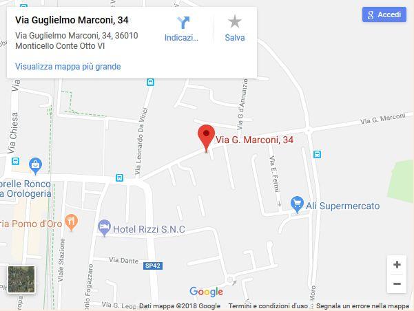 Via Guglielmo Marconi, 34/A8 36010 Monticello Conte Otto (VI) Italia